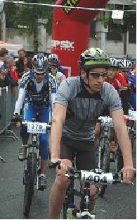 Michael Klodt mit der Startnummer 379 am Start von Kitz Alp Bike 2005